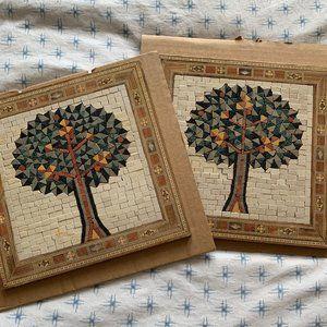 Authentic Israeli tree of life mosaic set